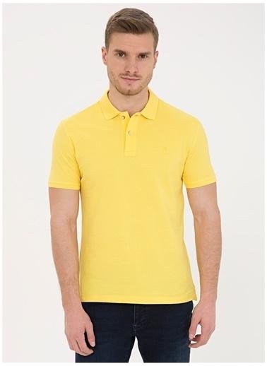 Pierre Cardin Pierre Cardin Erkek Sarı T-Shirt Sarı